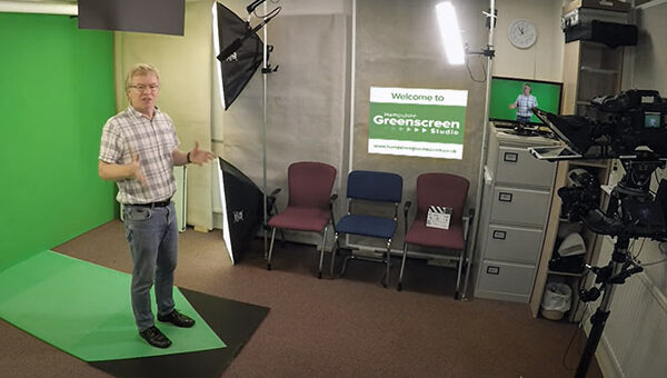Green screen hire in Southampton, Hampshire - dry hire or with camera operator