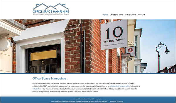 Website designed by Martin for Office Space Hampshire - Fareham, Romsey & Southampton