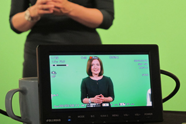 Green screen hire filming with autocue in Hamble, Southampton